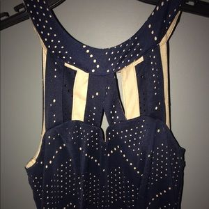 Size 3 Navy Blue Semi Formal Dress